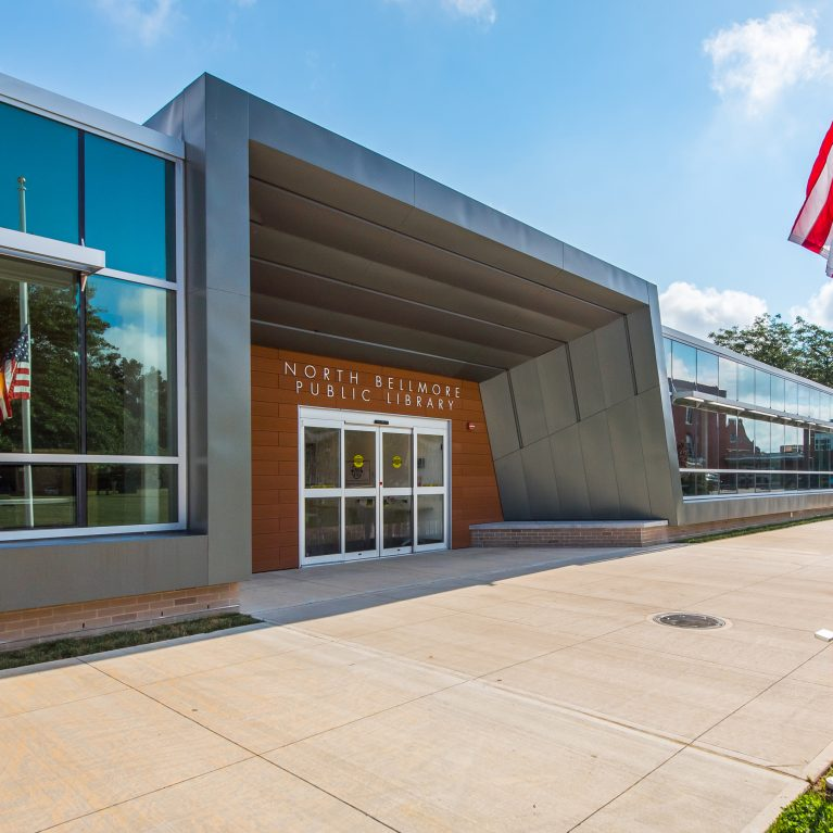 WoodN Industries outdoor cladding renovates the North Bellmore Public Library